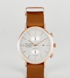 Часы с хронографом и коричневым кожаным ремешком Reclaimed Vintage Inspired эксклюзивно для ASOS - Коричневый