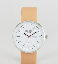 Часы с индикацией даты и светло-коричневым кожаным ремешком Reclaimed Vintage Inspired эксклюзивно для ASOS - Рыжий
