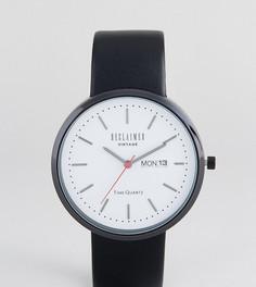 Часы с индикацией даты и черным кожаным ремешком Reclaimed Vintage Inspired эксклюзивно для ASOS - Черный