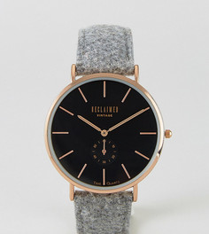 Часы с серым шерстяным ремешком Reclaimed Vintage Inspired эксклюзивно для ASOS - Серый