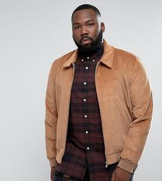 Светло-коричневая вельветовая куртка Харрингтон ASOS PLUS - Рыжий