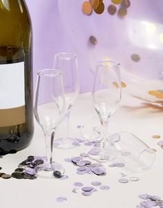Набор из 4 стопок в форме бокалов для шампанского Thumbs Up - Мульти