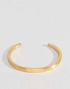 Золотистый браслет-манжета Seven London - Золотой