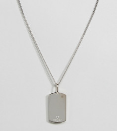Серебристое ожерелье с армейским жетоном Seven London - Серебряный