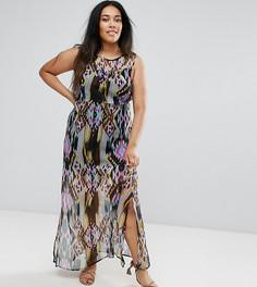 Платье макси с принтом Diya - Черный