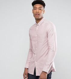 Узкая оксфордская рубашка розового цвета Burton Menswear TALL - Розовый