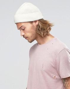 Белая шапки-бини ASOS - Белый