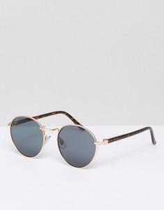 Круглые солнцезащитные очки ASOS - Золотой