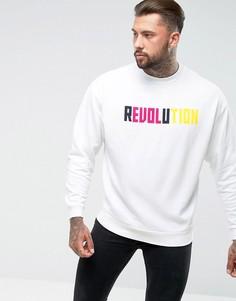 Оверсайз-свитшот с принтом Revolution ASOS - Белый
