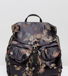 Рюкзак с принтом дракона Reclaimed Vintage Inspired - Черный