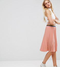 Плиссированная юбка миди Noisy May Tall Bob - Розовый