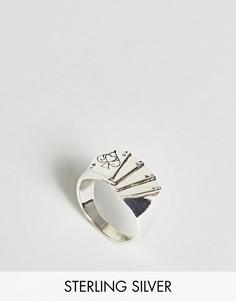 Серебряное кольцо с отделкой в форме игральной карты ASOS - Серебряный