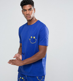 Пижама с принтом ASOS - Синий