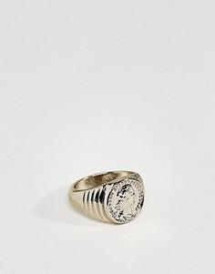 Позолоченное кольцо ASOS - Золотой
