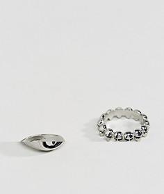 Серебристое кольцо с черепом ASOS - Серебряный