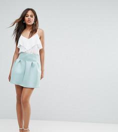 Мини-юбка с завышенной талией ASOS TALL - Зеленый