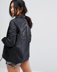 Спортивная куртка с принтом логотипа на спине Santa Cruz - Черный