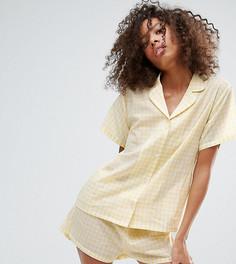 Пижамный комплект в клеточку Monki - Желтый