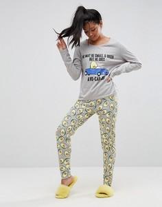 Пижамный комплект с лонгсливом и леггинсами ASOS - Мульти