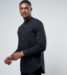 Длинная джинсовая рубашка черного цвета ASOS TALL - Черный