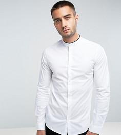 Узкая рубашка с воротником на пуговице и кантом Only & Sons - Белый