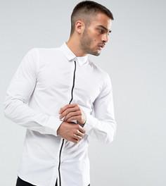 Строгая рубашка узкого кроя с отделкой на планке Only & Sons - Белый