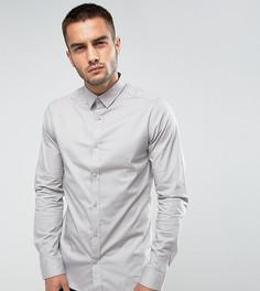 Строгая рубашка скинни Only & Sons - Серый