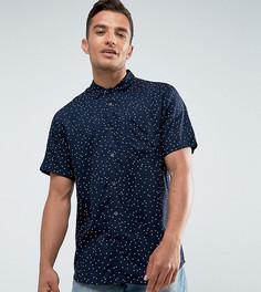 Облегающая рубашка с коротким рукавом из вискозы Only & Sons - Темно-синий