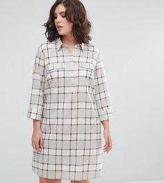 Платье-рубашка в клетку ASOS CURVE - Мульти
