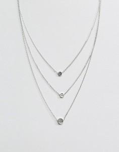 Ожерелье в три ряда Nylon - Серебряный