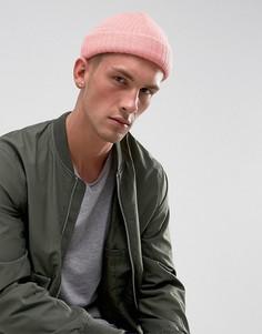 Розовая шапка-бини ASOS - Розовый