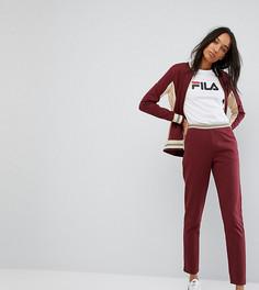 Джоггеры с контрастным поясом и логотипом Fila Tall - Красный