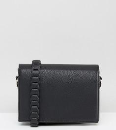 Черная сумка через плечо с декоративной отделкой Street Level - Черный