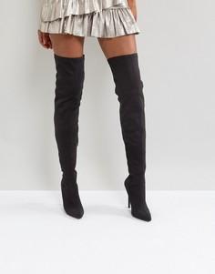 Ботфорты на каблуке-шпильке Truffle Collection - Черный