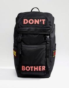 Черный походный рюкзак с надписью ASOS - Черный