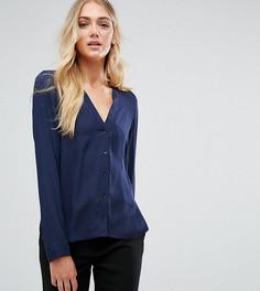 Блузка с V-образным вырезом ASOS TALL - Темно-синий