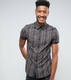 Рубашка классического кроя с винтажным принтом ASOS TALL - Черный