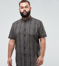 Рубашка классического кроя с винтажным принтом ASOS PLUS - Черный