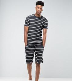 Пижама с полосками ASOS TALL - Серый