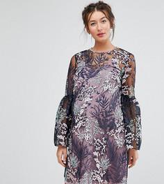 Свободное платье мини с кружевом ASOS Maternity - Мульти