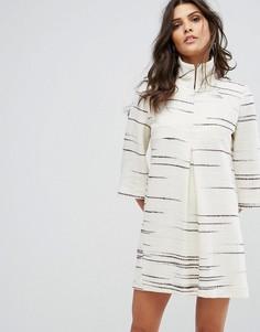 Свободное платье с принтом BA&SH - Кремовый Ba&Sh