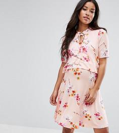 Двухслойное платье с завязкой и оборкой ASOS Maternity NURSING - Мульти