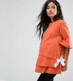 Топ со шнурком ASOS Maternity NURSING - Оранжевый