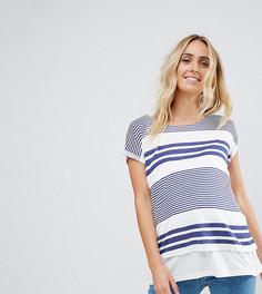 Двухслойная футболка в темно-синюю полоску ASOS Maternity NURSING - Темно-синий
