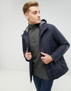 Пальто с капюшоном и скрытой планкой Esprit - Темно-синий