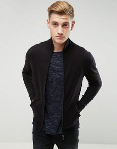 Джемпер из ткани с добавлением кашемира на молнии Esprit - Черный