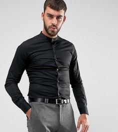 Рубашка суперузкого кроя с воротником на пуговицах Only & Sons - Черный