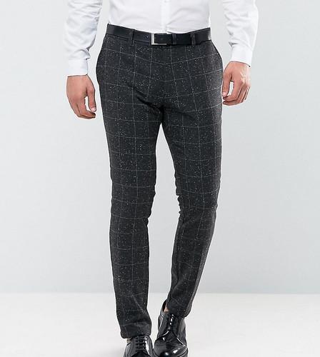 Узкие брюки в клетку Only & Sons - Серый