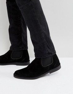 Черные замшевые ботинки челси Selected Homme Royce - Черный