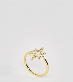 Кольцо с позолотой 14 карат Carrie Elizabeth - Золотой
